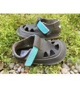 Baby bare shoes IO - summer perforation Blue Beetle