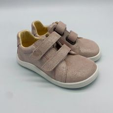 Baby bare shoes - Febo spring sparkle pink velour